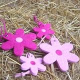 Filz Blüten