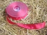Schleifenband mit Drahtkante Rot 2,5 cm