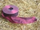 Schleifenband mit Drahtkante Bordeaux 4 cm