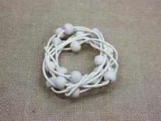 Peddig Holz Midolino Gebleicht mit Perlen