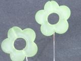 50 Nadeln mit Acryl Blüte Grün