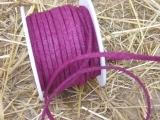 Lederband 25 m 3 mm in Burgund