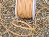 Lederband 25 m 3 mm in Orange