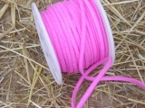 Lederband 25 m 3 mm in Pink Rosa