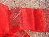 Organza Taschen Band 2 m x 12 cm gesäumt Rot