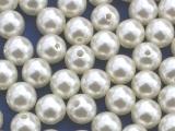 Große Portion - ca. 300 Stück - Perlen Creme 12 mm