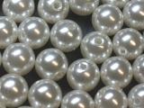 Große Portion - ca. 300 Stück - Perlen Weiß 12 mm