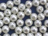 Große Portion - ca. 960 Stück - Perlen Creme 8 mm