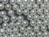 Große Portion - ca. 960 Stück - Perlen Weiß 8 mm