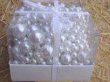 Großes Perlen Sortiment Weiß