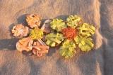 Palmblatt Blüten 15 cm Gelb Orange
