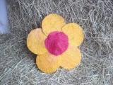 Sisal Blüte 25 cm Orange / Rot