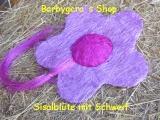 Sisal Blüte 25 cm Flieder / Lila mit Schweif