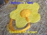 Sisal Blüte 25 cm Gelb / Orange mit Schweif